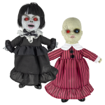 Coffin Dolls™ Black-Red Striped Dress