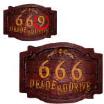 Haunted 666 Sign