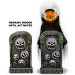 Pumpkin Guardian of the Grave with Fog