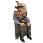 Sitting Scarecrow™ with Chair